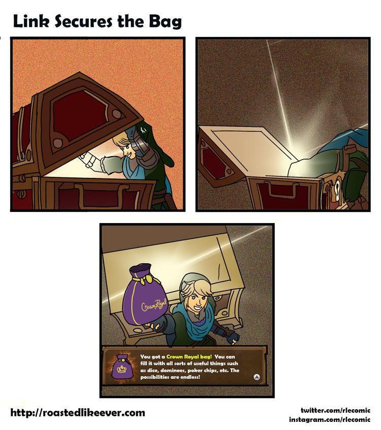 Link Secures the Bag